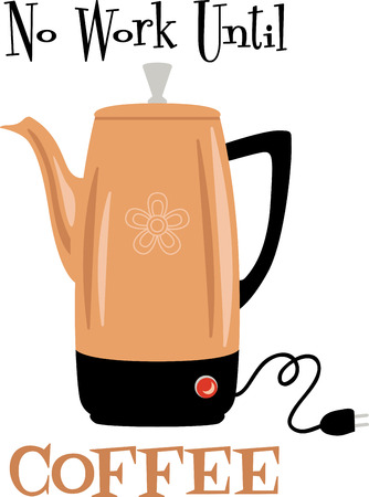 Use this water kettle on a diner shirt or apron. Ilustração