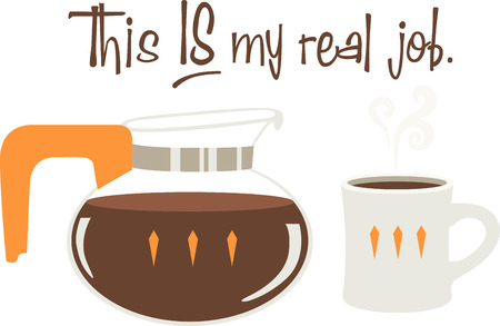 Use this coffee design for a diner apron. Illustration
