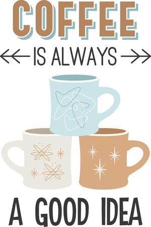 Use these mugs for an apron or shirt. Ilustracja