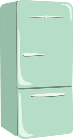 Add a refrigerator to your kitchen dcor.