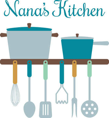 masher: Add some cooking utensils and pots to your kitchen dcor.