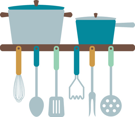dcor: Add some cooking utensils and pots to your kitchen dcor.