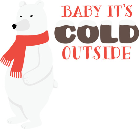 A polar bear is a great Christmas and winter time design.