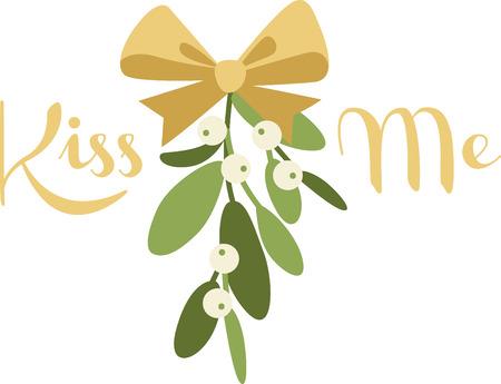riband: Mistletoe is a wonderful holiday decoration.