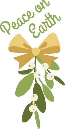 Mistletoe is a wonderful holiday decoration.