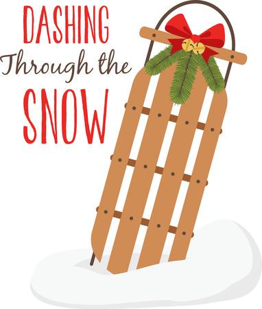 This snow sled will give you an adventurous sleighing ride Illusztráció