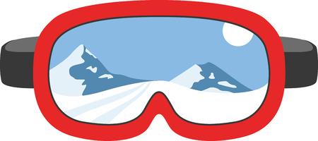 스키 원정 중 얼굴을 보호하기위한 스키 마스크.