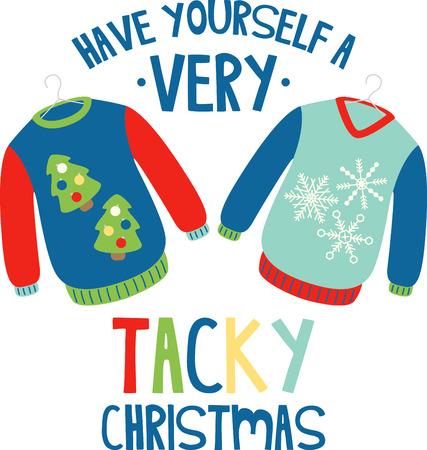 축제 시즌 동안 당신을 따뜻하게 해주는 휴일 스웨터 일러스트