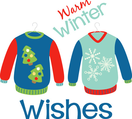 Holiday sweaters to keep you warm during the festive season Иллюстрация