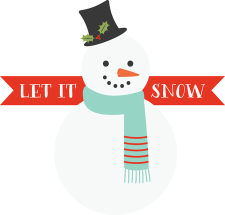 Cute little snowman to bring cheer during Christmas!