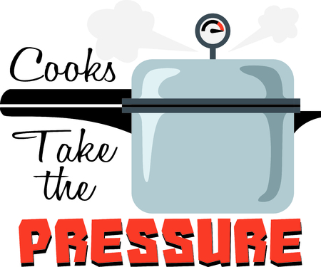 under pressure: Perfect for a chef use this pressure cooker on your project.