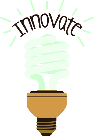 Compact fluorescent light bulb for the efficient energy consumer. Ilustrace