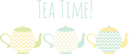 The aroma and flavor of the tea enhances with the teapot used to make it. Enjoy your tea in a stylish way with this design on your home decor projects.