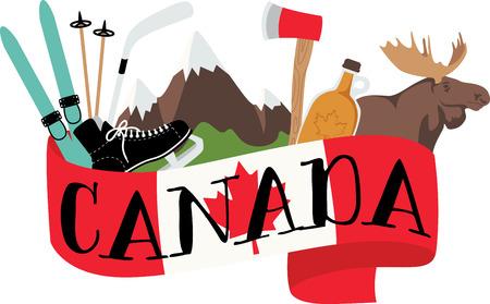 Faites votre expérience du côté de la pente complète dans les montagnes du Canada avec cette nature a inspiré la conception de vos projets à l'intérieur. Banque d'images - 43917929