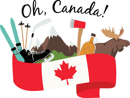 Faites votre expérience du côté de la pente complète dans les montagnes du Canada avec cette nature a inspiré la conception de vos projets à l'intérieur. Banque d'images - 43917935