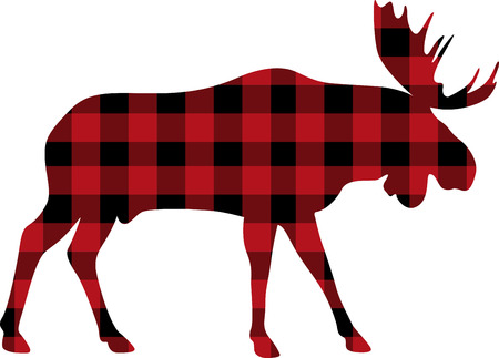 lodge: Experience some of the best wildlife in the Canadian Rockies with this design on your home decor projects. Illustration