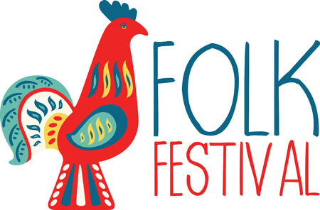 versatile: Use this versatile traditional Scandinavian Swedish Rooster Folk Art design for projects for your art lovers! Illustration