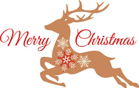 donner: This reindeer design will provide a unique addition to your Christmas decorations.  Try it on a table cloth, runner or curtain! Illustration