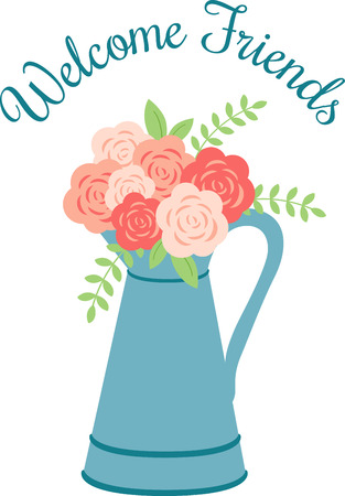 Beautiful flowers are a wonderful accent to any project. Ilustração
