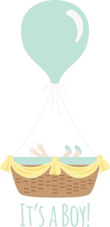 Accogliere un nuovo bambino con un design carino su un regalo bambino doccia. Archivio Fotografico - 43918050