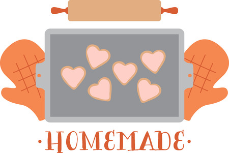 indulge: Theres nothing like a batch of homemade cookies to lift your spirits and make your house smell wonderful.  Indulge with this design on your kitchen projects. Illustration