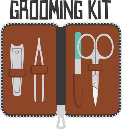 handy man: Questo kit grooming a portata di mano contiene tutto il necessario per stare cercando taglienti lontano da casa. Il suo un progetto di divertimento per il vostro uomo preferito.