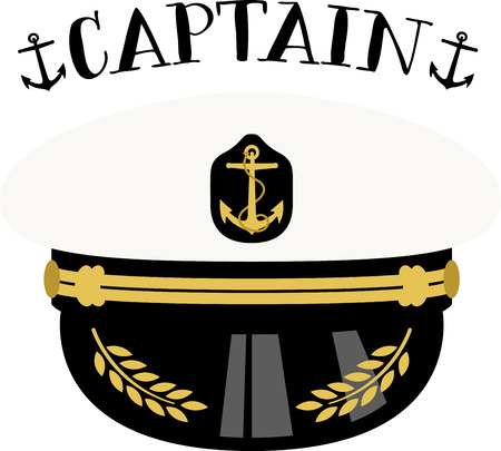 Get the nautical look!  Complete your naval ensemble with this Sea Captain hat. Your marine would appreciate this design on their projects!