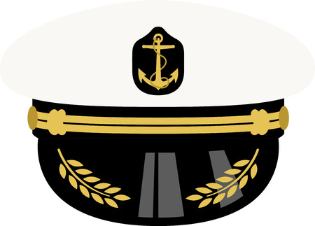 captain hat: Get the nautical look!  Complete your naval ensemble with this Sea Captain hat. Your marine would appreciate this design on their projects!