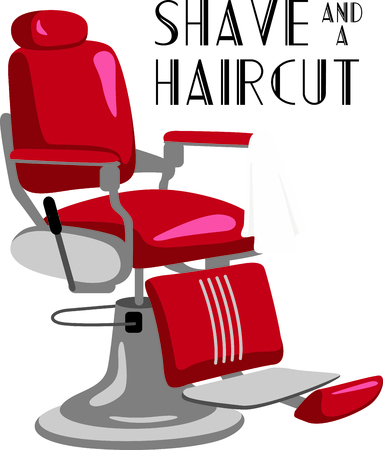 This classic barber chair is a must for barber towels and smocks.  It stitches out beautifully onto smocks and towels.
