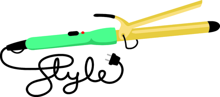 Beautician, Hairdryer, Stylist, occupation, career, tool, cord, plug, text, lettering, beautician Ilustrace