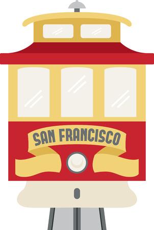Ga sightseeing op een trolley auto in San Francisco.