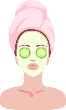 Qué mejor que un día en el spa Este diseño facial diversión es una necesidad para su ropa de hidromasaje. Bastante a sí mismo y su ropa con un viaje a nuestro spa! Foto de archivo - 43918161