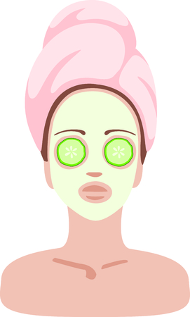 skincare facial: Whats better than a day at the spa  This fun facial design is a must for your spa apparel.  Pretty up yourself and your apparel with a trip to our spa!