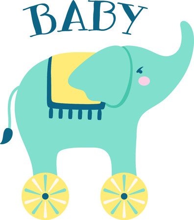 pull toy: Colorful toys are a great way to decorate a babys outfit.