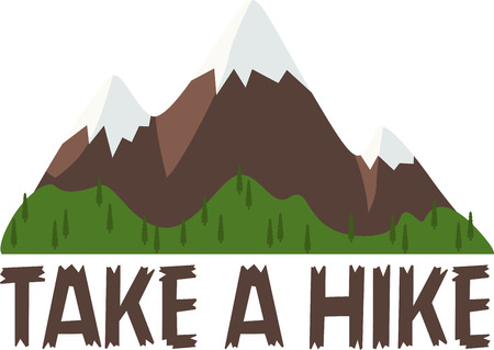 woodsy: Enjoy pure nature and explore the hiking trails of Mt. Washington.  Bring woodsy appeal to your home projects with this design! Illustration