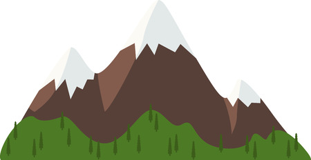 bluff: Enjoy pure nature and explore the hiking trails of Mt. Washington.  Bring woodsy appeal to your home projects with this design! Illustration