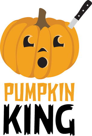 carved pumpkin: Decorate for Halloween with a carved pumpkin.