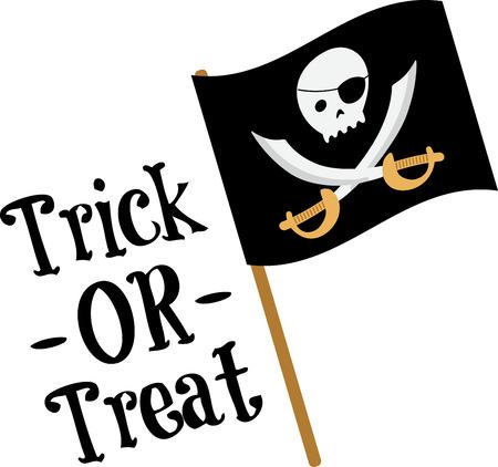 楽しんで: 子供たちがそのシャツに海賊旗を楽しきます。