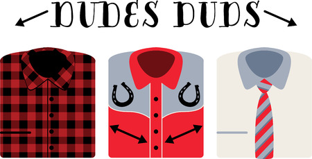 impress: There is something for everyone with this wide range of casual to dress shirts!  Dress to impress with this design on your projects for the boys.