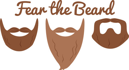 communicative: Take these communicative powers of facial hair to the next level.  A great design on a project for the macho men.