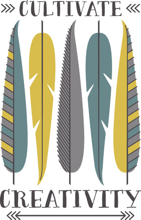 carefree: Fly far and enjoy the carefree spirit of the feather with this native inspired design on your indoor projects.