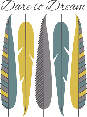 honour: Fly far and enjoy the carefree spirit of the feather with this native inspired design on your indoor projects.