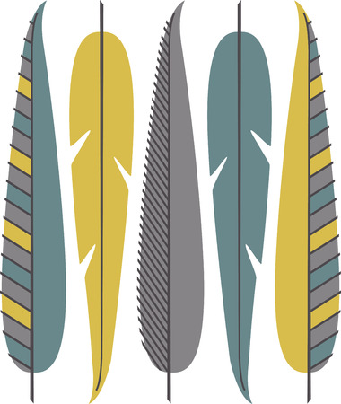 plume: Fly far and enjoy the carefree spirit of the feather with this native inspired design on your indoor projects.