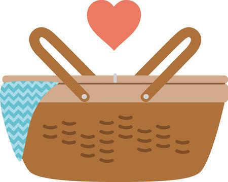 이 피크닉 바구니를 여름 축제로 사용하십시오.