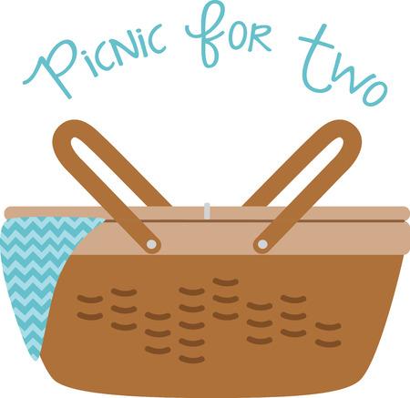 Gebruik deze picknickmand voor een zomer feest.