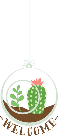 prickly pear: Use this desert scene ornament on your next project.