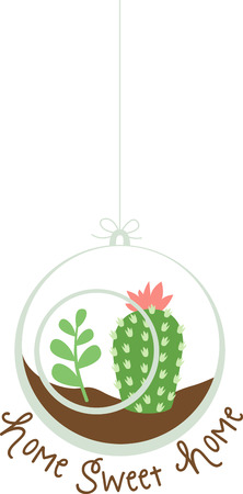Use this desert scene ornament on your next project.