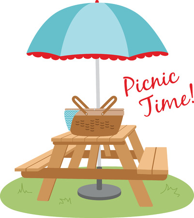 Use this picnic basket for a summer feast.