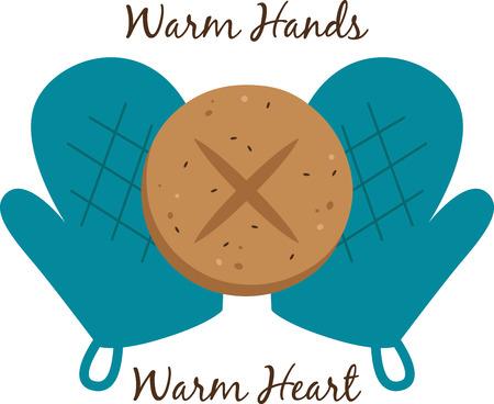 Bakkers zullen genieten van een warm en vers broodje op een pannenlap