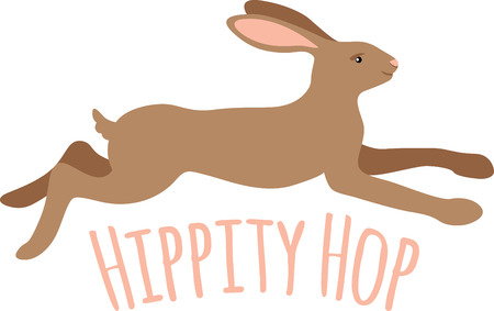 jackrabbit: Kids will love a bunny rabbit on their clothes. Illustration